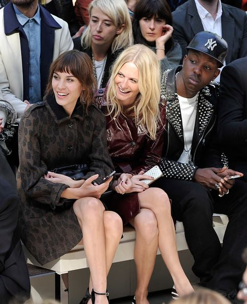first row at Burberry Prorsum Womenswear Spring 14 show