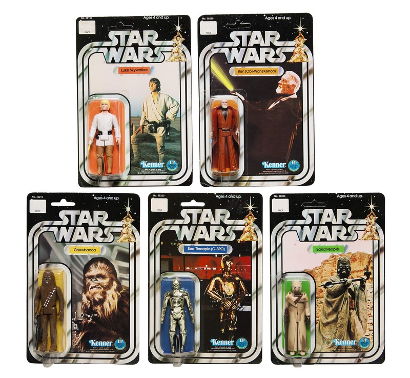 five-star-wars-12b-back-action-figures-1978-The First Auction of Star Wars Collectibles at Sothebys