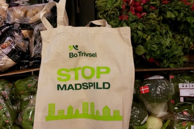 How did Denmark become a leader in the food waste revolution?