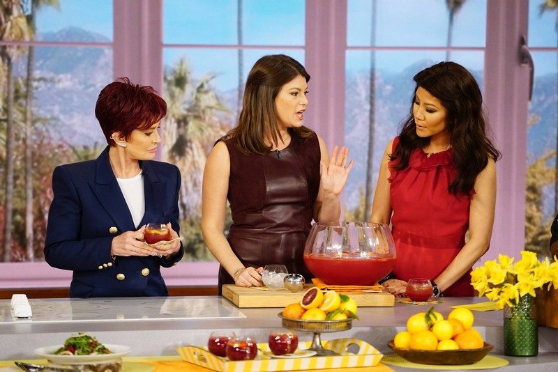 gail simmons-  spring recipes with Julie Chen and Sharon Osbourne