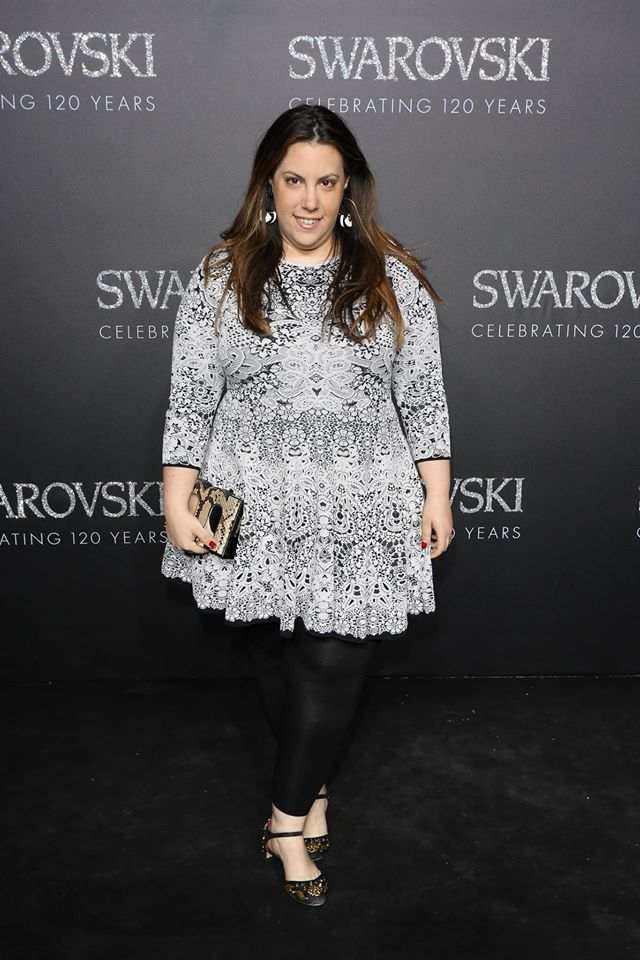 gala evening in the Swarovski Crystal Worlds-Designerin Mary Katrantzou