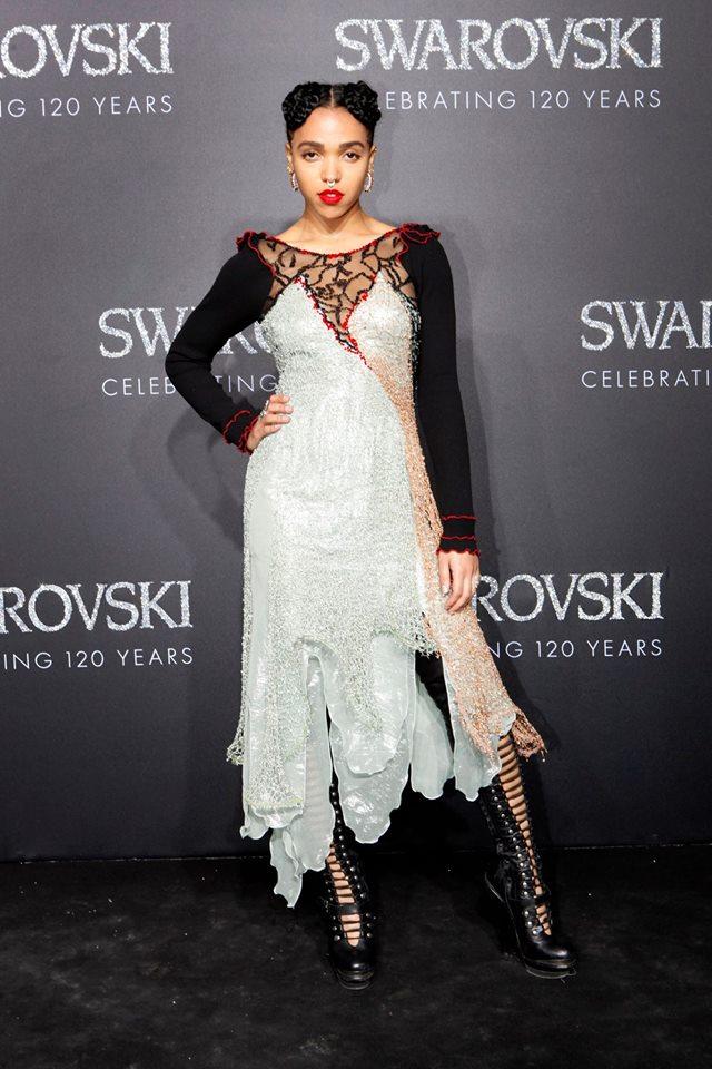 gala evening in the Swarovski Crystal Worlds-FKA twigs