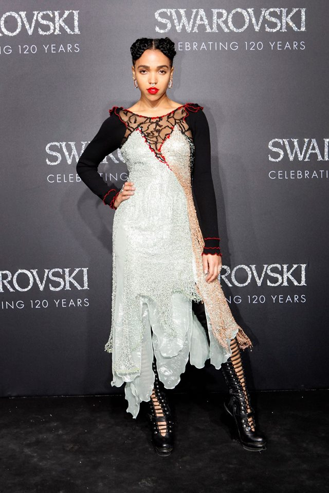 gala evening in the Swarovski Crystal Worlds-FKA twigs