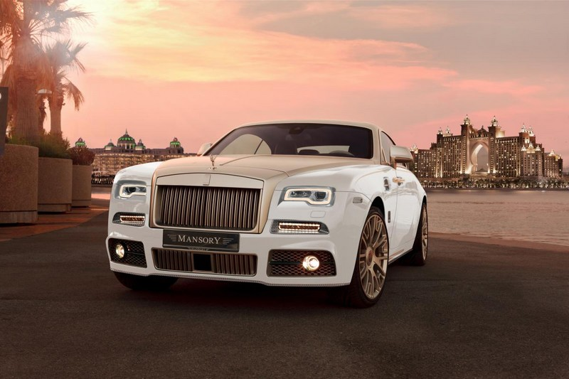 gold-decorated Rolls-Royce wraith Palm Edition 999