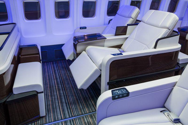 golf tour private jet interior