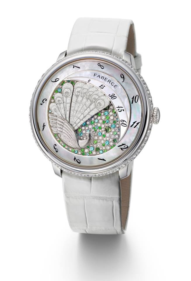 gphg 2015 - Ladies' High-Mech Watch Prize-Fabergé Lady Compliquée Peacock