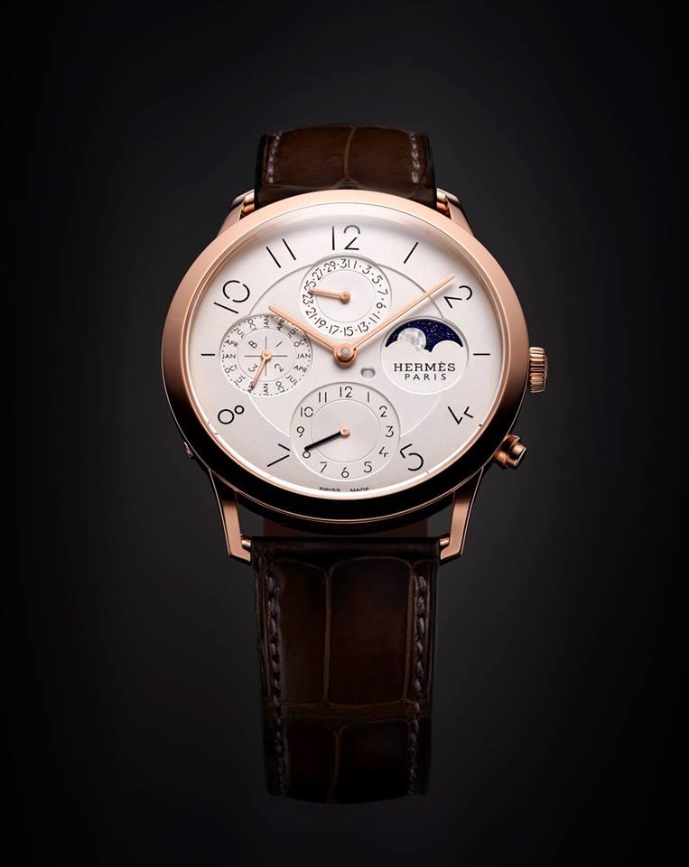 gphg 2015- the winners-Calendar Watch Prize Hermès Slim d'Hermès QP