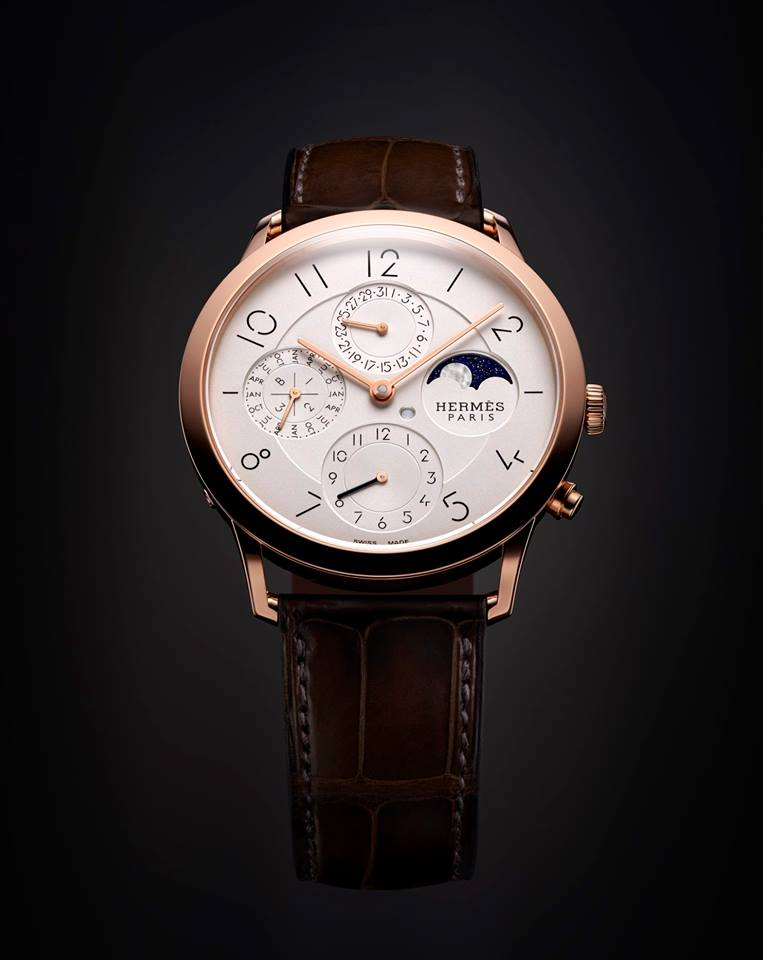 gphg 2015- the winners-Calendar Watch Prize Hermès Slim d'Hermès QP