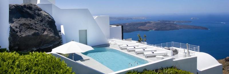grace hotel santorini greece-pools