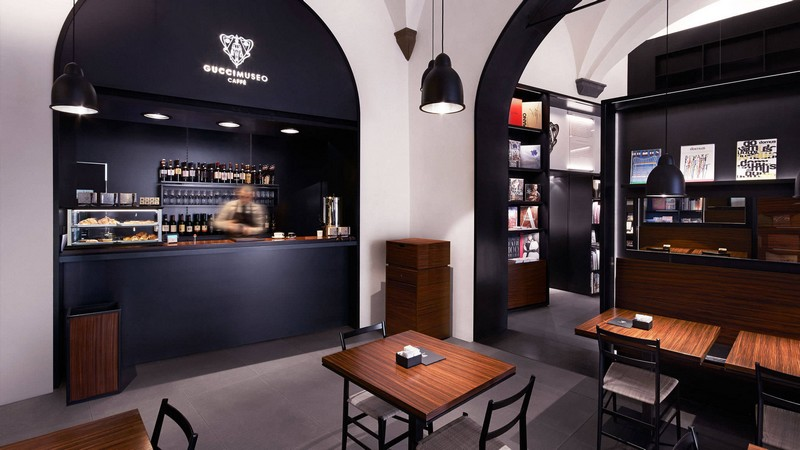 gucci cafe at the gucci museo in florence