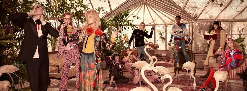 gucci combines menswear and womenswear shows