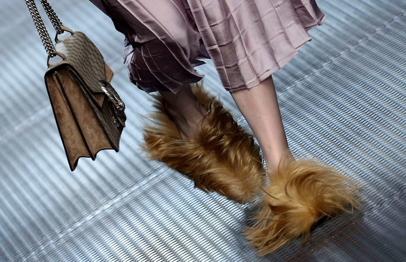 gucci fur shoes fall winter 2015 - 2016