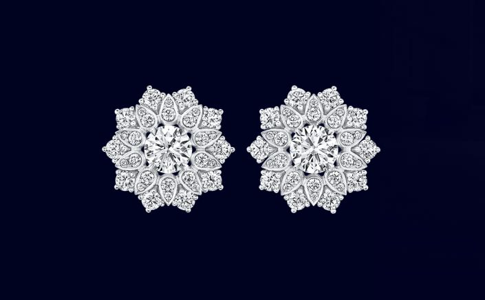harry winston lotus cluster diamonds earrings 2luxury2
