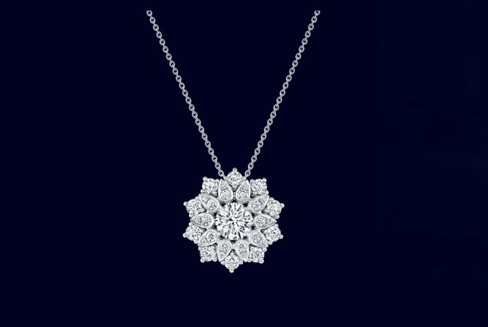 harry winston lotus cluster diamonds pendant 2luxury2
