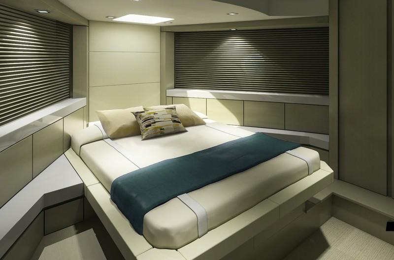 hatteras yachts-interior bedroom