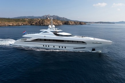 45m Amore Mio is the largest and most powerful sports yacht ever built in the Netherlands