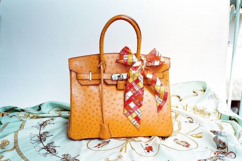 hermes birkin ostrich bag