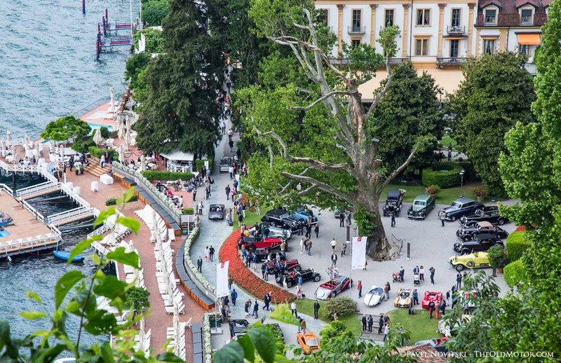 historic motorcycles coming together - Concorso d'Eleganza Villa d'Este-