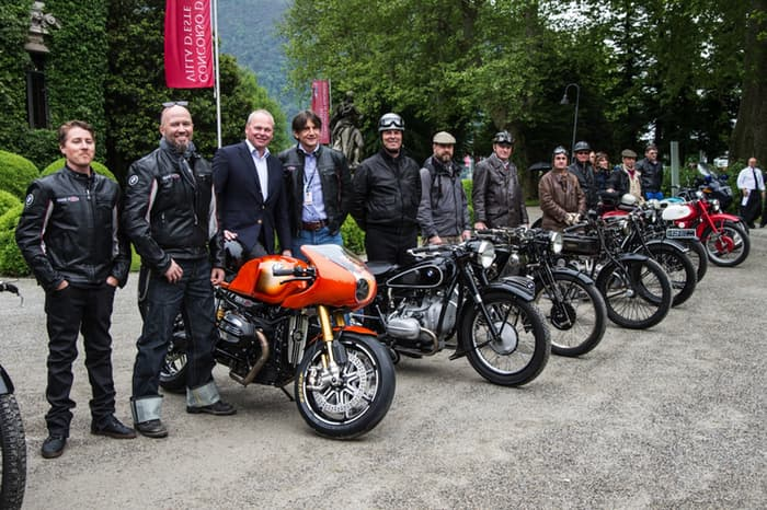 historic motorcycles coming together - Concorso d'Eleganza Villa d'Este