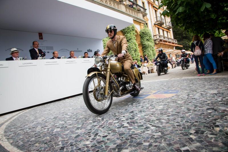 historic motorcycles coming together at 2016 Concorso d'Eleganza Villa d'Este