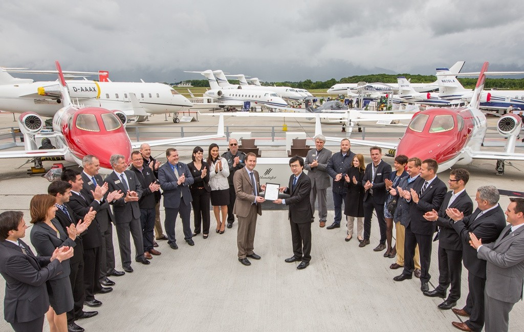 The HondaJet received a type certificate