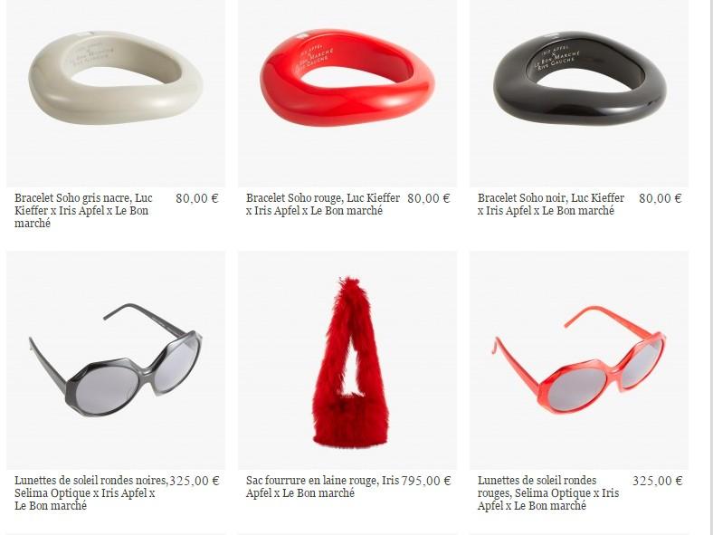 iris apfel capsule collection for bon marche rive gauche 2016