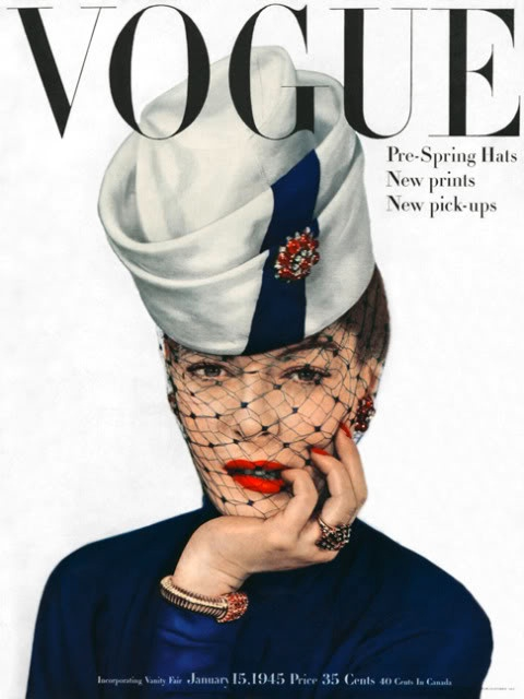 john rubel-jewrly vogue-magazine - cover january-1945