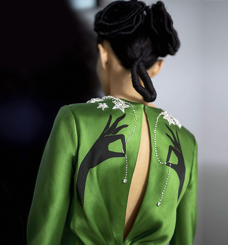 k behind the scenes at the Schiaparelli Haute Couture Spring-Summer 2015
