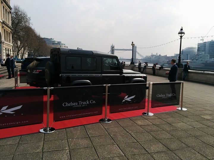 kahn design rovers for  the London Yacht, Jet and Prestige Car show 2015-