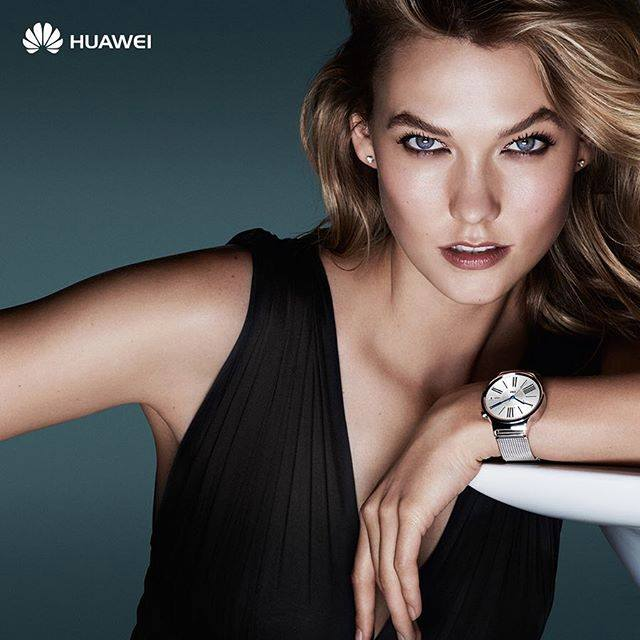 karlie kloss #HuaweiWatch campaign
