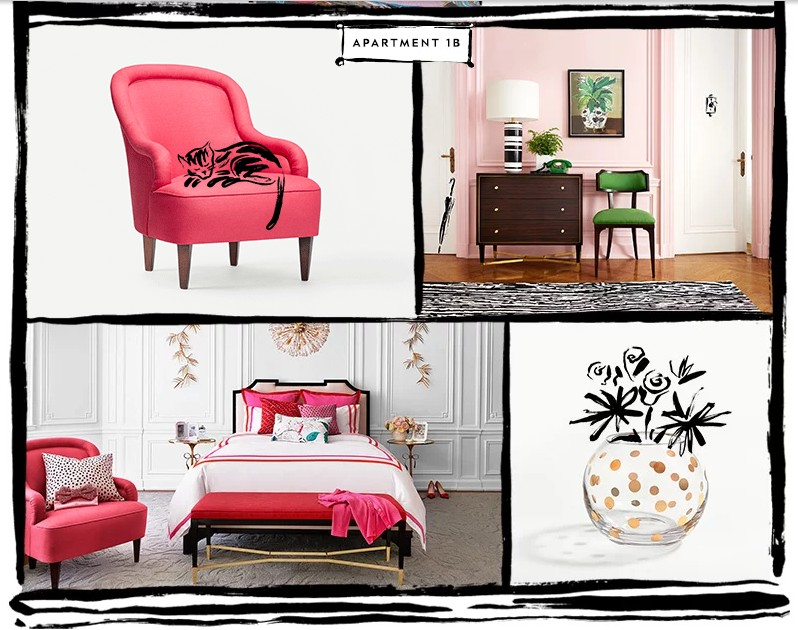 kate spade new york debuts furniture, lighting, rugs and fabric collection 2015-
