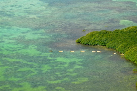 kayak in the Caribbean