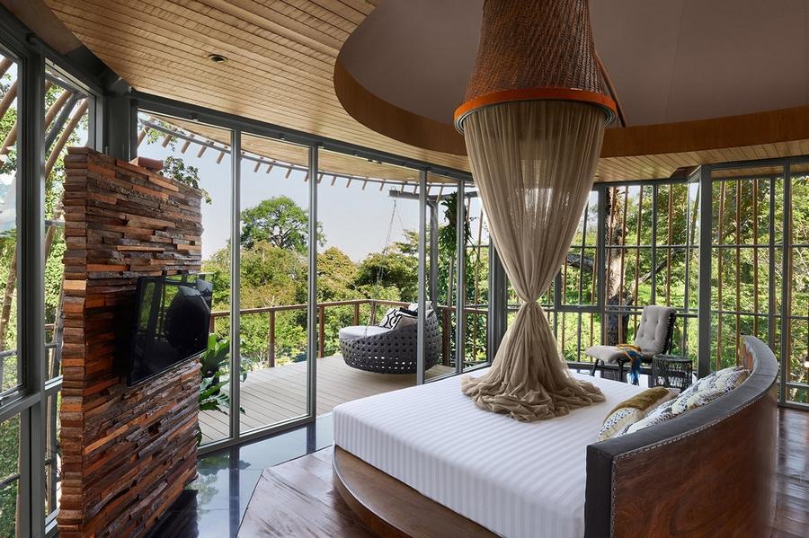 keemala luxury resort phuket thailand- tree house bedroom