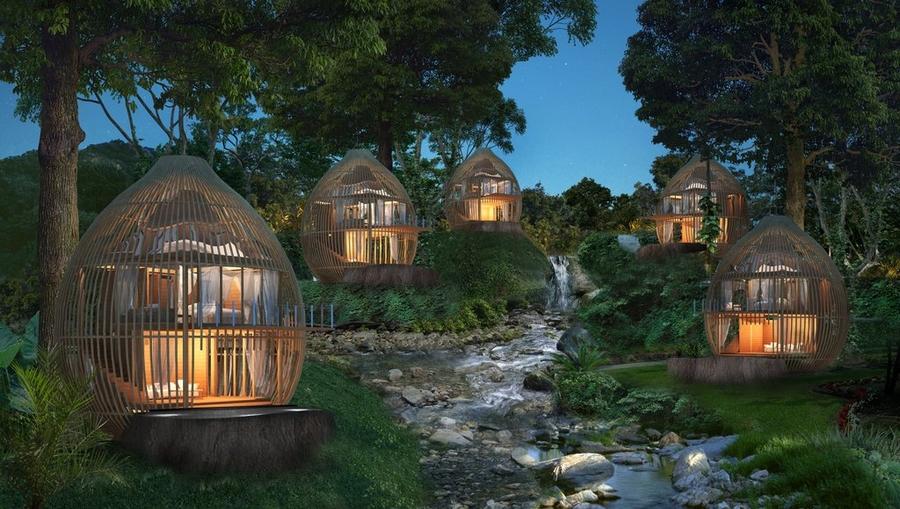 keemala luxury resort phuket thailand- tree house with pool