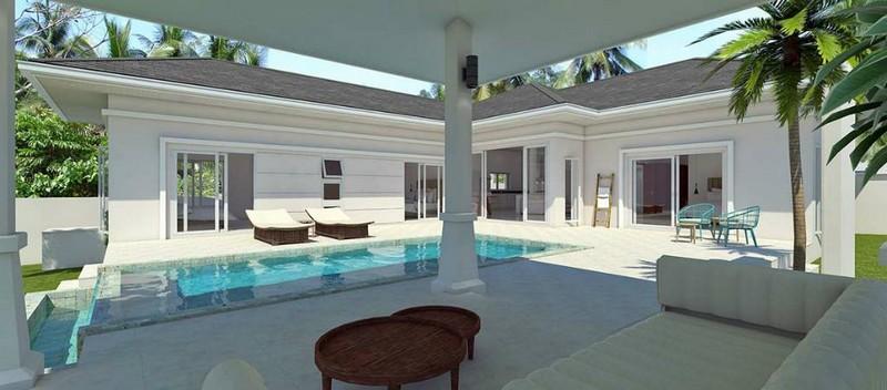koh samui 3-BEDROOM HOUSE WITH PRIVATE SWIMMING POOL IN PLAI LAEM - luxury living koh samui