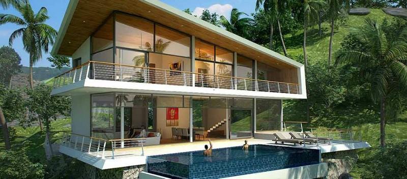 koh samui thailand - luxury living koh samui - 3-4-BEDROOM #SEA VIEW #VILLAS IN #LAMAI