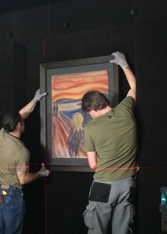 l'accrochage du Cri de Munch.