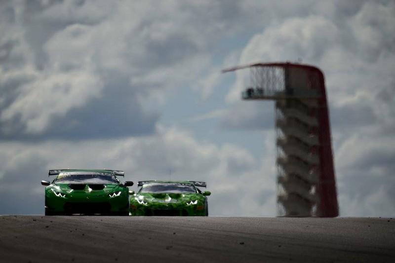 lamborghini super trofeo cars - green