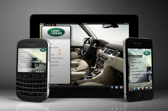 land rover mobiel app