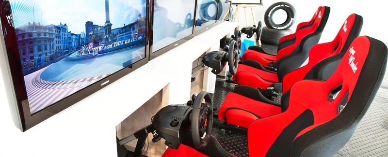 lets race F1 simulators UK