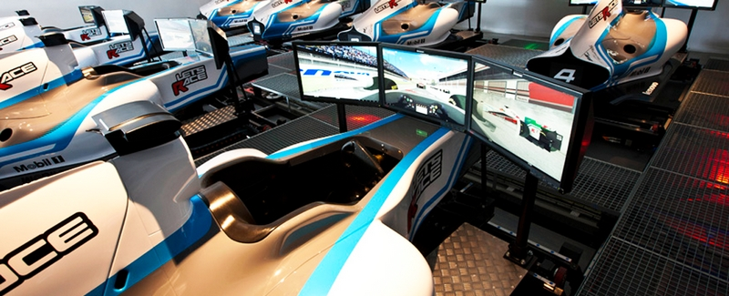 lets race F1 simulators