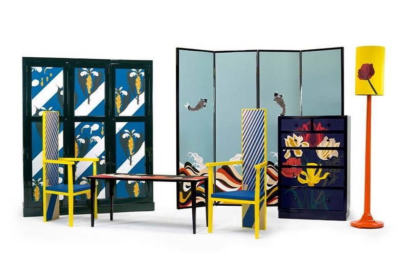 loewe marquetry in leather - salone del mobile 2016-furniture