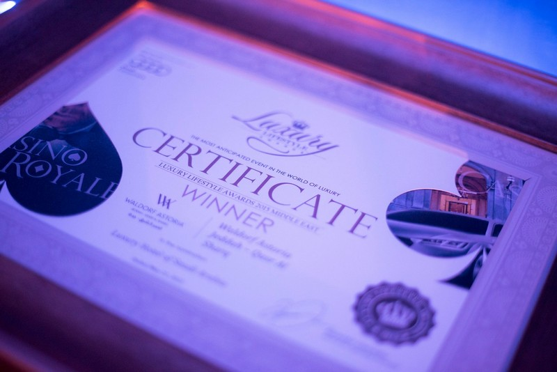 luxury lifestyle awards asia  - certificate winner