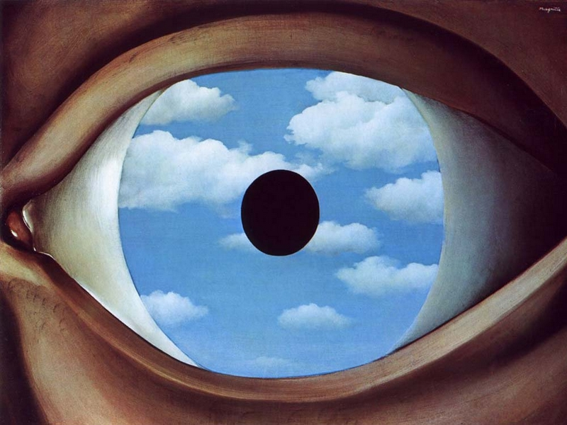 magritte false mirror