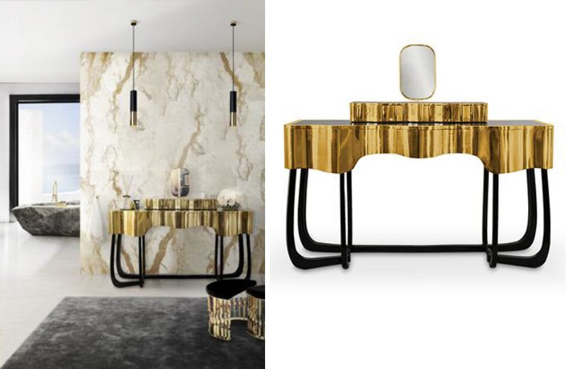 maison valentina  bathroom - sinous table