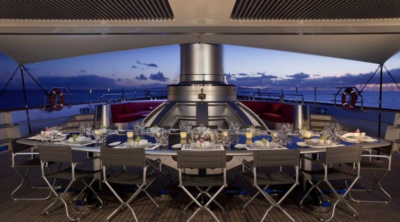 maltese falcon sailing superyacht-al fresco dining