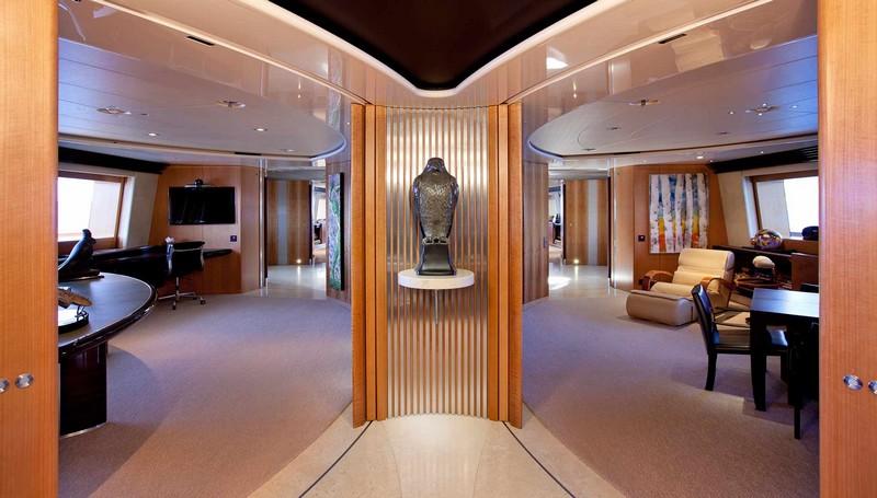 maltese falcon sailing superyacht-luxurious dining interiors-0