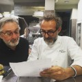 massimo bottura and robert de niro in the kitchen cooking