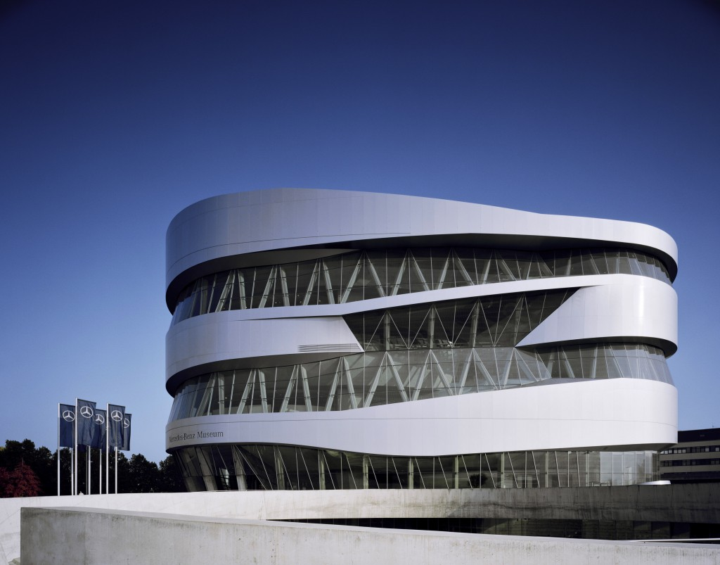 mercedes benz museum exterior-
