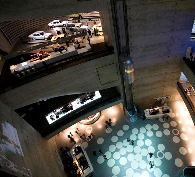 mercedes benz museum interior